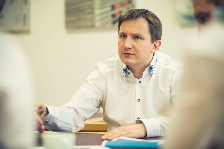 Werte und Leitbild der World-of-edv - zu sehen ist Geschäftsführer Thomas Wagner
