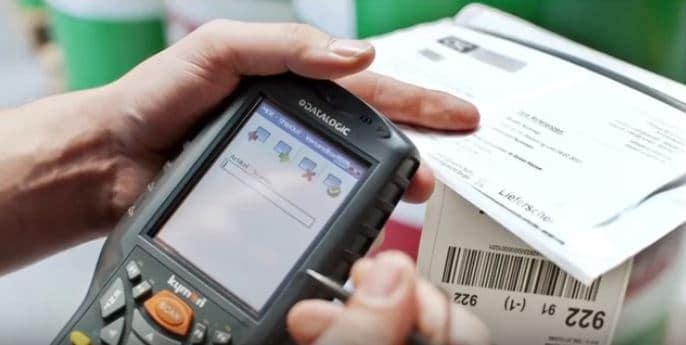 MDE Gerät Handscanner für Pakete