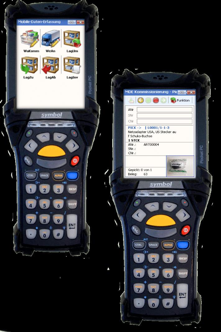 MDE Geräte für Lagerverwaltung im ERP System