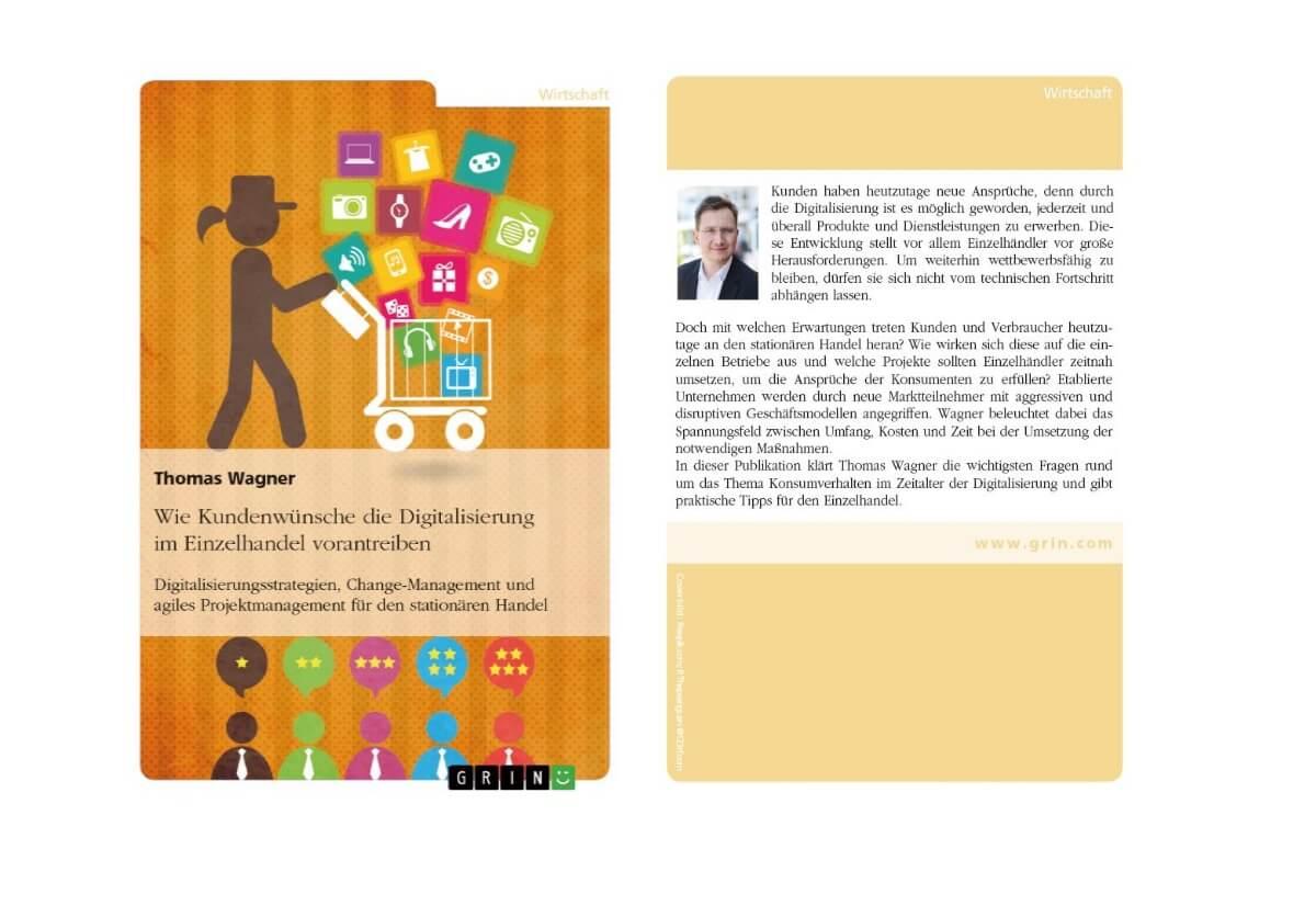 Buch Einband Digitalisierung im Einzelhandel - Autor Thomas Wagner