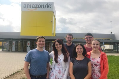 Team World-of-edv zu Besuch bei Amazon
