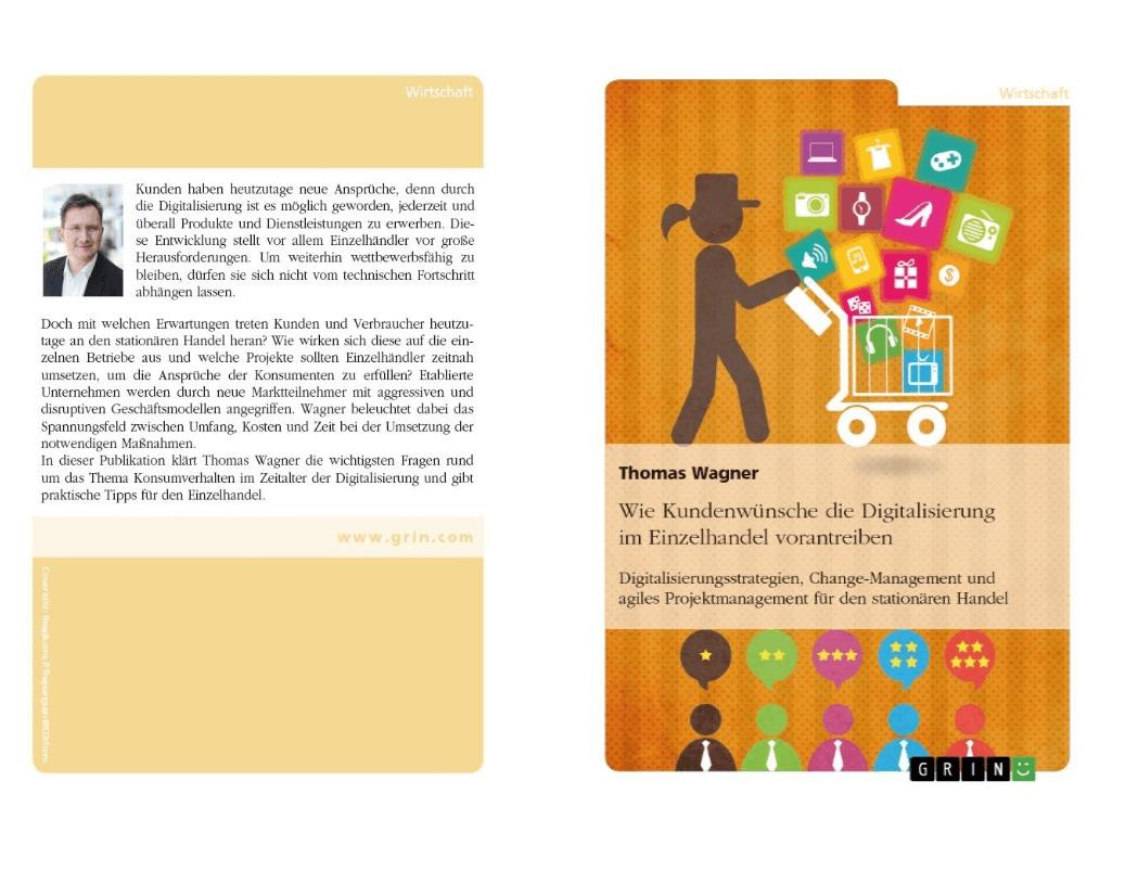 """Buchcover vom Buch """"Wie Kundenwünsche die Digitalisierung im Einzelhandel vorantreiben"""" von Thomas Wagner"""