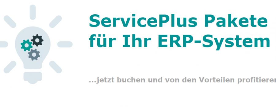 ServicePlus Pakete für Ihr ERP-System - jetzt buchen und von den Vorteilen profitieren!