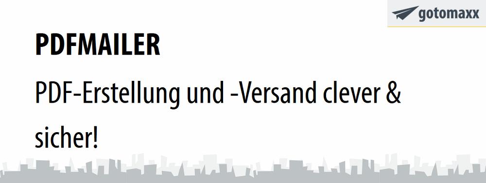 Werbebanner PDFMAILER von Gotomaxx