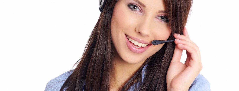Kundenbetreuung, Service, Dame mit Headset