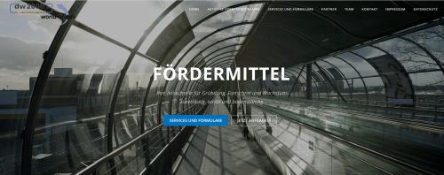 Screenshot der Fördermittel.online Webseite