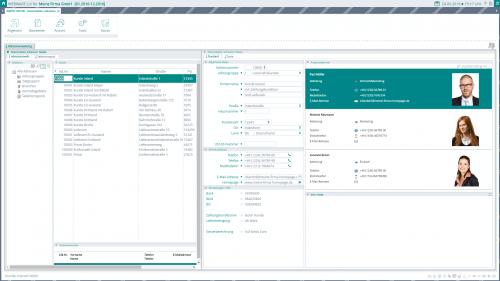Screenshot der WEBWARE - Objektsystem - mehrere Objekte auf einen Blick