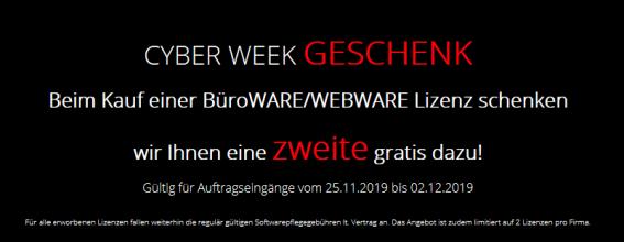 Cyberweek Aktion 2019