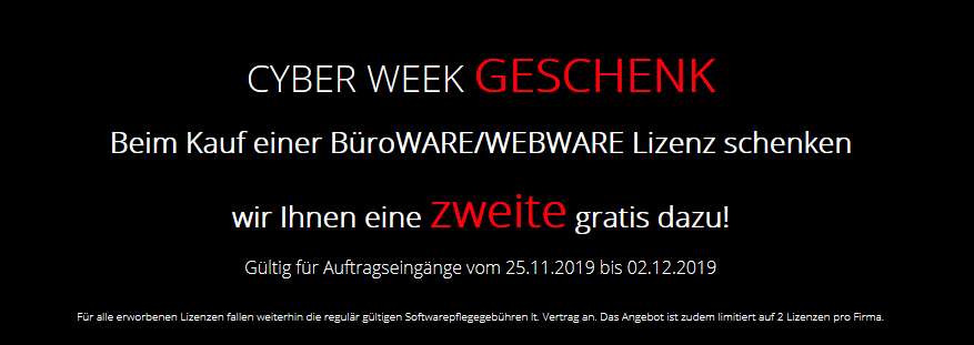 Cyberweek Aktion 2019