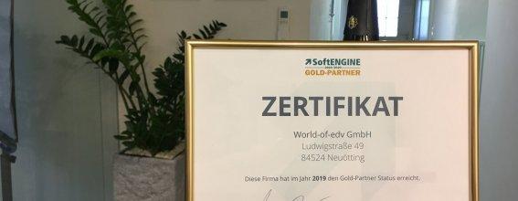 Softengine Goldpartner Zertifikat 2020