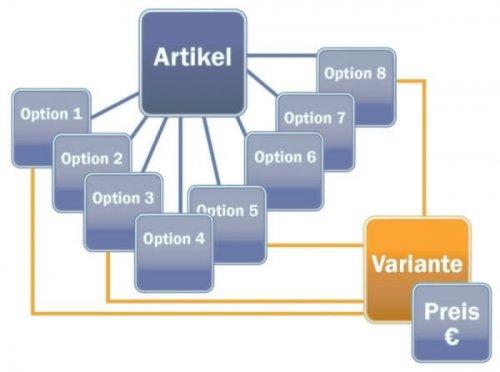 Variantenartikel in der Warenwirtschaft Software von SoftENGINE
