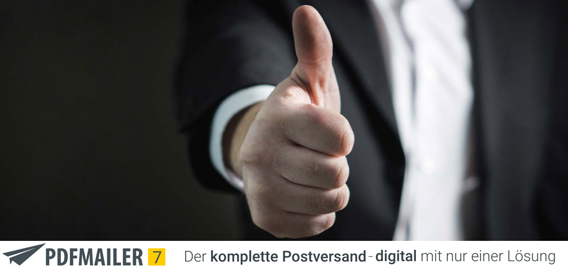 PDFMailer 7 Blogbeitrag Titelbild - kompletter Postversand digital mit gotomaxx - PDF creator