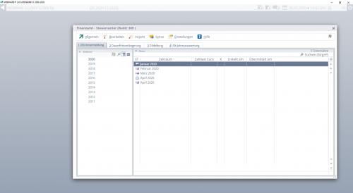 Finanzbuchhaltung Software - Steuercenter Steuerberater - Screenshot