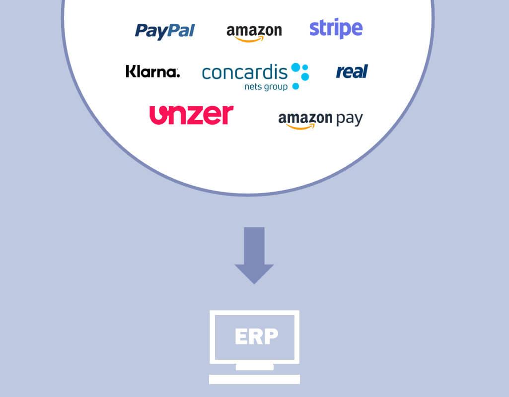 ePayments - Modul für BüroWARE WEBWARE - Finanzbuchhaltung Software von SoftENGINE - Paypal, Klarna, Heidelpay, Amazon Pay, Concardis
