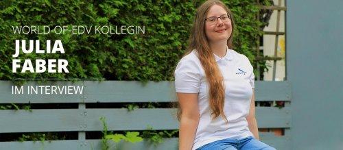 Titelbild Blogbeitrag - Interview mit Kollegin Julia Faber - Fachinformatiker Systemintegration
