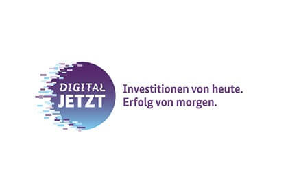 Logo des Förderprogramms Digital Jetzt